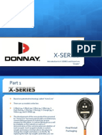 Donnay 2011/2012 X-color racquets line up
