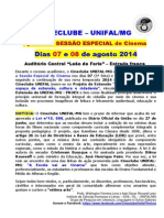 Cineclube UNIFAL Nova Temporada Agosto 2014