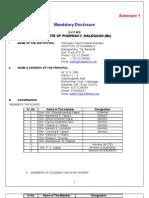 Annexure 1 Mandatory Disclosure