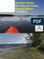 •Conservation Status of Intertidal Vascular Plants of Piermont Marsh, Rob Naczi (New York Botanical Garden) and David Werier (Botanical and Ecological Consultant)