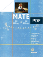 Mate Cu Mima Si Cu Mimu - Culegere Clasa 1
