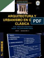 Arquitectura y Urbanismo en Grecia Clàsica