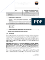 Microcurriculo de Lengua Castellana Origen Del Griego1