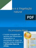 O Clima e as Formações Vegetais