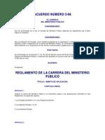 Reglamento de La Carrera Del Mp_acuerdo_3-96