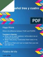 spanish 3 and 4 10-1