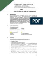 Silabo Gestion de Proyectos de Tecnologias de La Informacion Maestria Ingenieria de Sistemas Unprg