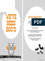 Halloween BOO Sign by Petite Party Studio