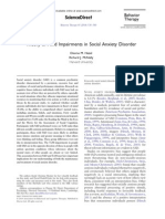 Theory of Mind Impairments in Social Anxiety Disorder
