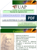 Las Hipotesis y Variables