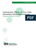 Achievement Effects of Four Early Elementary School Math Curricula