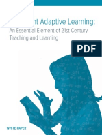 Wp Cl Intelligent Adaptive Learning 21st Century Teaching and Learning
