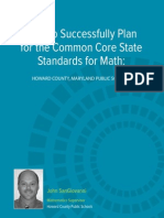 Wp Jsg How to Successfully Plan for the Ccss for Math