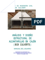Módulo Box Culvert. Diseño Integral de Box Culverts. Manual Del Usuario
