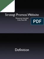 Strategi Promosi Website