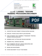 flat sling processing machinery