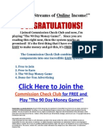 Commission Check Club Affiliate Program Multiple Streams of Income