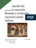 Comparación del derecho sucesorio Romano y el derecho sucesorio actual chileno.docx