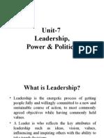 Unit -7 Leadership