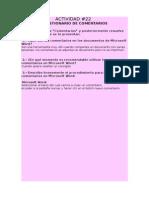 ACTIVIDAD 22  CUESTIONARIO DE COMENTARIOS.doc