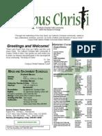 Corpus Christi Sunday Bulletin Jan 11-12, 2014