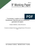 Crecimiento y empleo en la República Dominicana_opciones para un crecimiento generador de empleo_FMI enero2013.pdf