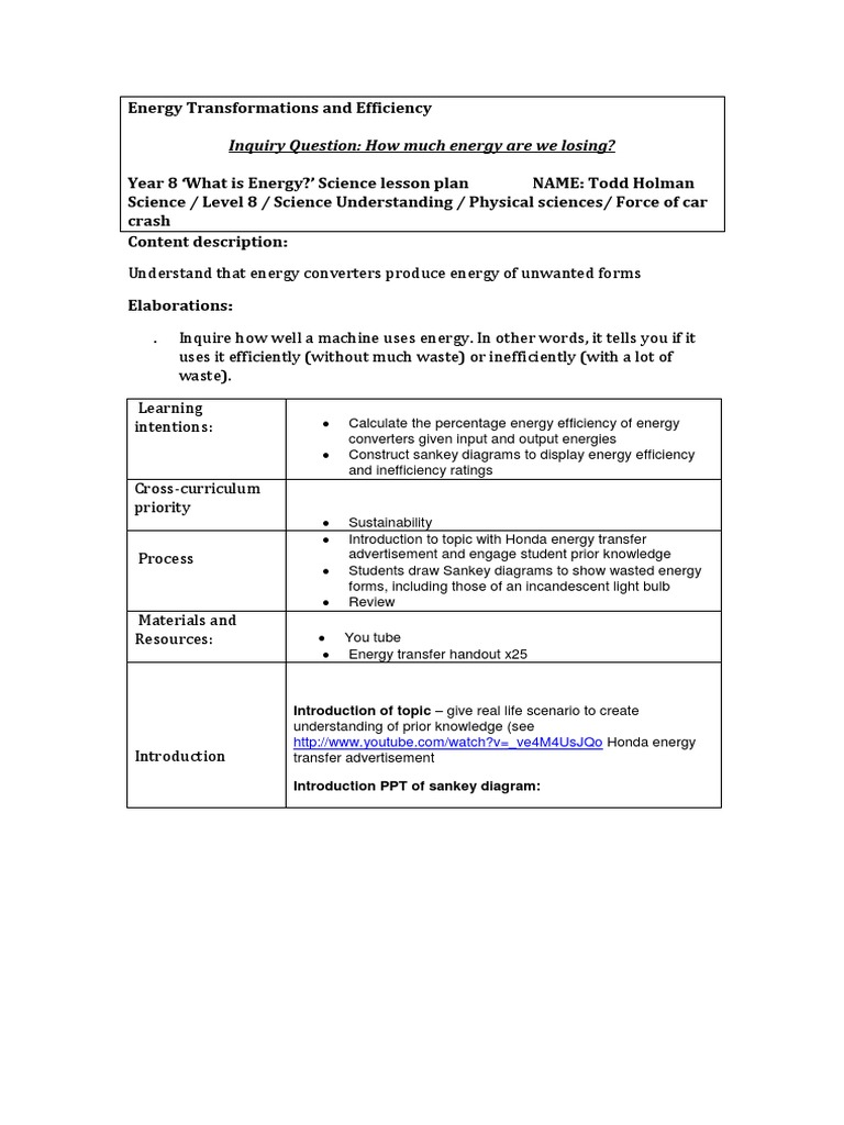 Energy transformations and efficiency lesson plan efficiency energy transformations and efficiency lesson plan efficiency lesson plan pooptronica Choice Image