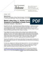 human rights - 2014 mlk jr  student essay contest