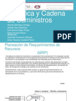 Logística y Cadena  de SuministrosPLANEACION DE REQUERIMIENTO DE RECURSOS.pptx