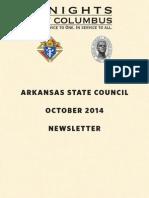 Arkansas Knights of Columbus Newsletter October 2014