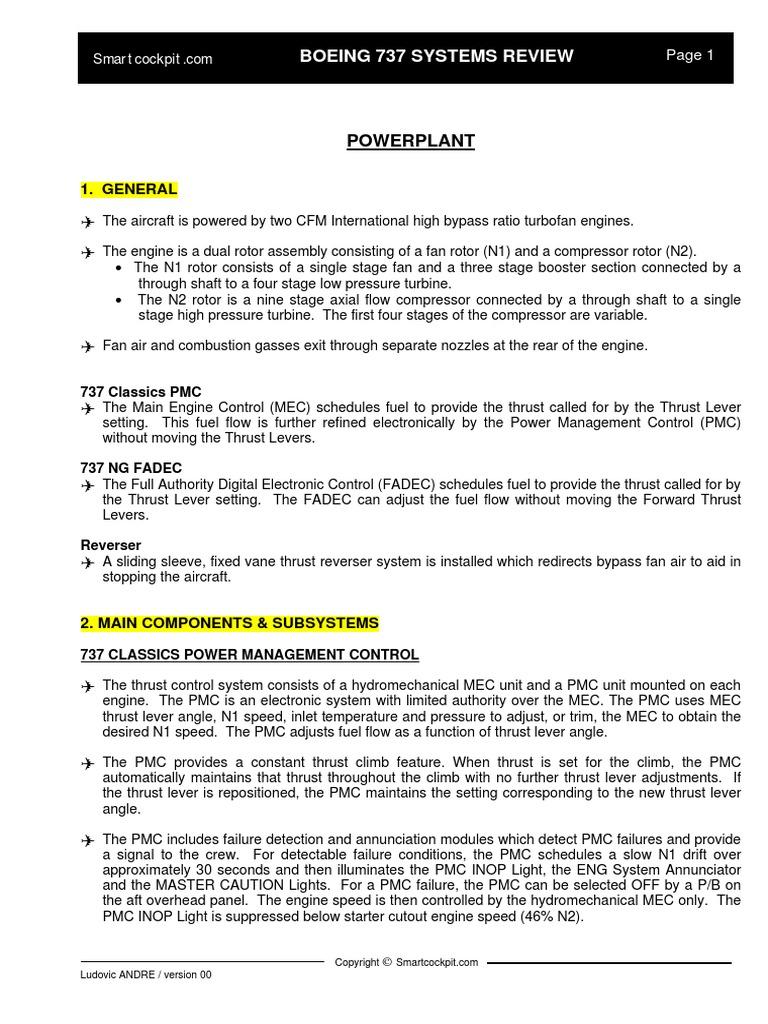 B737 Powerplant Systems Summarypdf Turbine Engines Full Authority Digital Electronic Control Fadec Schematic Diagram