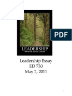 Candidate Work Sample-Leadership Essay