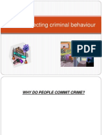 lesson 4 - factors affecting criminal behaviour