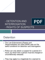 lesson 10 - detention and interrogation and rights of suspects