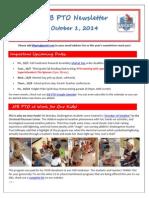 JFB PTO Newsletter 10-01-14