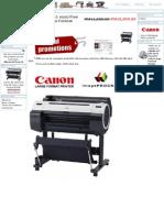 CANON 24_ (A1 Size) Five (5) Color Large Format Printer, MYCOPIER