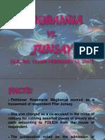 Magbanua vs Junsay Report