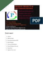 Internship Projects in chennai based company