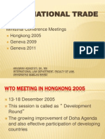 WTO Ministrial Conference Meetings