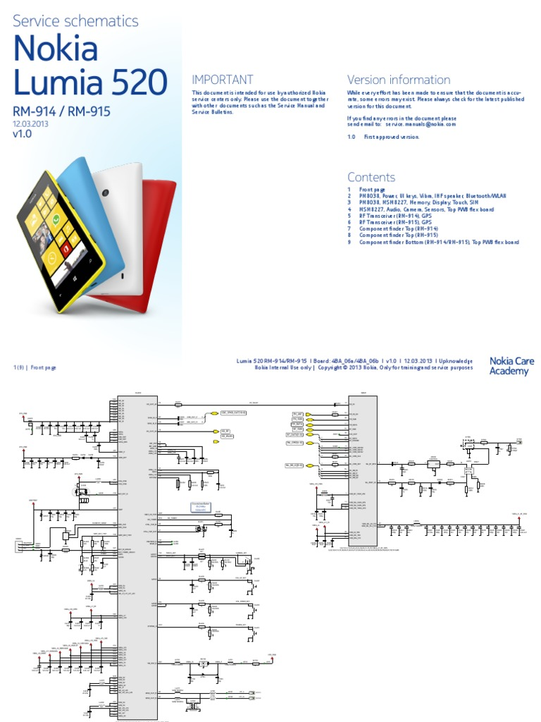 Schematic nokia lumia 520 ccuart Images