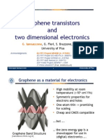 Graphene transistors and two-dimensional electronics