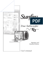 Sunfire True Subwoofer - User Manual