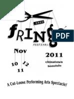 Oahu Fringe Festival Prog 2011