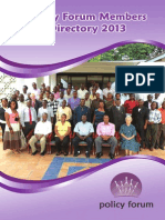 Policy Forum Members Directory 2013