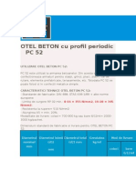 OTEL BETON Cu Profil Periodic PC 52