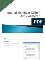 Tutorial Membuat Cellref Actix Analyzer