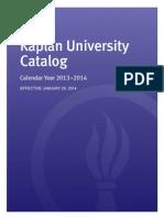 Kaplan University Catalog