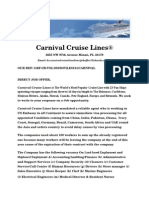 Carnival Fun Job Offer