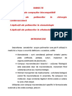 Polimeri Biocompatibili - Curs - Subiecte