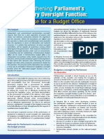 Parliamentary Budget Office Brief